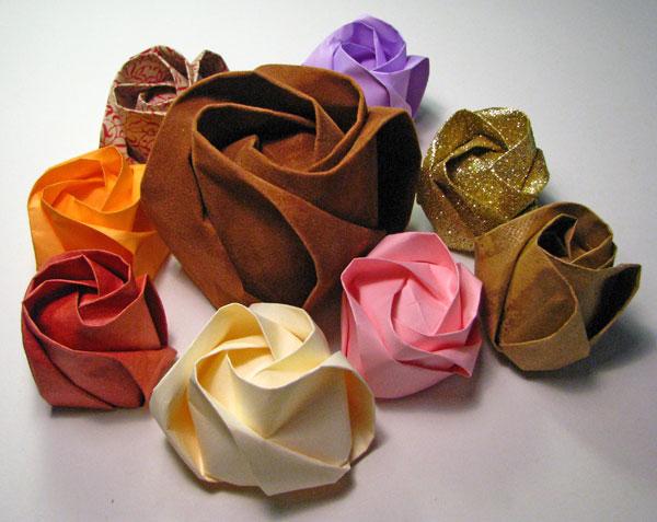servietfoldning rose